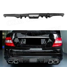 V Стиль углеродного волокна диффузор, губа на задний бампер спойлер для Mercedes Benz C Class W204 C63 AMG 2008 2009 2010 2011 стайлинга автомобилей