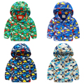 Baby dinosaurs 2015 winter coat cotton-padded clothes new boy's children's wear children add wool coat hoodedwt - 5197