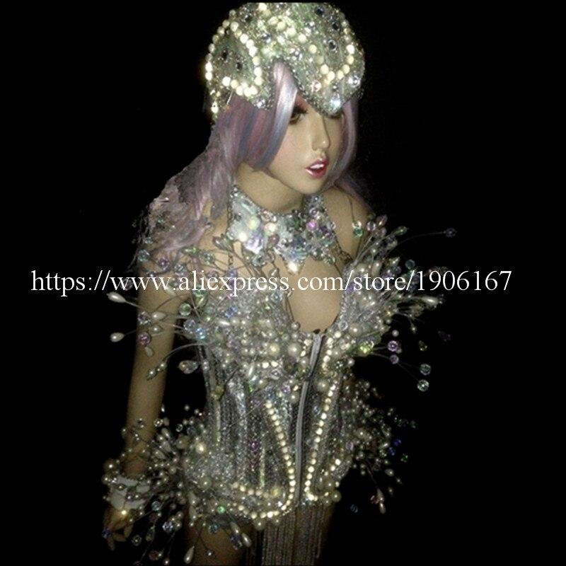 LED leuchtende Licht emittierende sexy Frauen Anzug Kleidung mit - Partyartikel und Dekoration - Foto 4