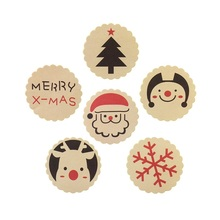 120pcs/lot New Vintage Christmas Theme Sealing label Sticker DIY Gifts Posted Baking Decoration Label Multifunction Decoration 100pcs lot cowhide english word mixed round sealing sticker diy gifts posted baking decoration label