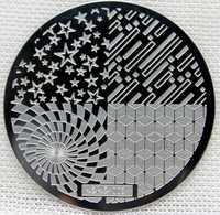 Triângulo Cinco estrelas Nail Art Stamp Template Imagem Placa hehe003 Placas Prego Stamping Template Stencil Manicure Ferramenta