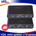 EKL 4 Ports 4-In 1-Out VGA & Audio Video Metal Splitter Switch Box Selector 350MHZ