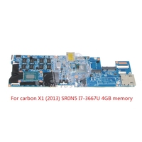 04W3895 For Lenovo thinkpad Carbon X1 Laptop motherboard 48.4RQ01.011 SR0N5 I7 3667U CPU 4GB RAM memory Onboard