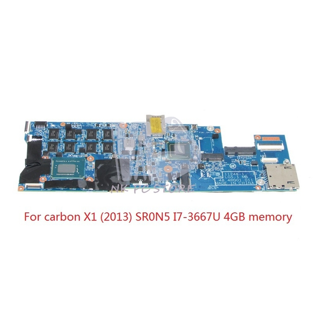 US $193 5 10% OFF|NOKOTION 04W3895 For Lenovo thinkpad Carbon X1 Laptop  motherboard 48 4RQ01 011 SR0N5 I7 3667U CPU 4GB RAM -in Motherboards from