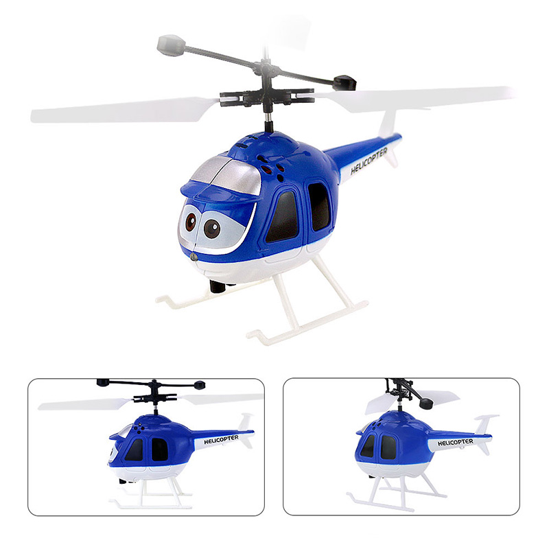 Flying Mini RC Infrared Induction Helicopter Aircraft With Led Flashing Light Model Helicopter USB Charging Toys For Kids Gifts
