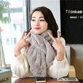 Luna&Dolphin Imitation Rabbit Hair Pearl Scarf Woman Winter Warm Infinity Ladies Scarves Sweet Artificial Fur Collar