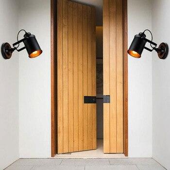 Đèn tường Mỹ Đèn Retro Country Loft Phong Cách LED đèn Công Nghiệp Cổ Điển Sắt tường ánh sáng cho Bar Cafe Khách Sạn Chiếu Sáng Nhà