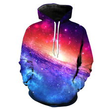 ZOGAA 2018 Spring Autumn New Galaxy Star Sky Glamorous Mens Clothing 3D Digital Long Sleeve Hat Guard mens hoodies Harajuku