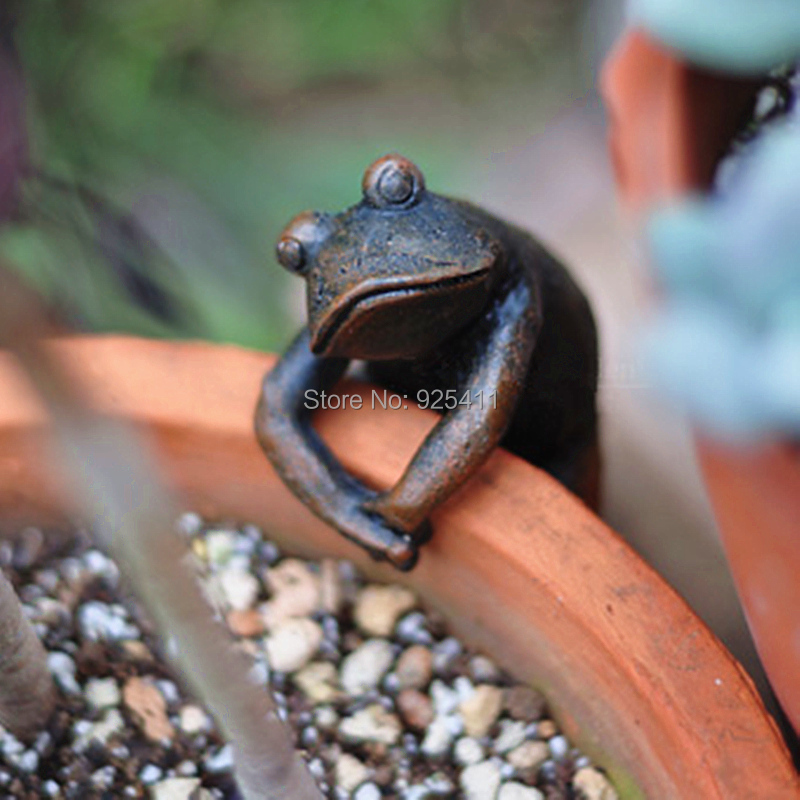 garden decoration resin animal frog garden ornaments gadget garden figure flower pots decoration. Black Bedroom Furniture Sets. Home Design Ideas