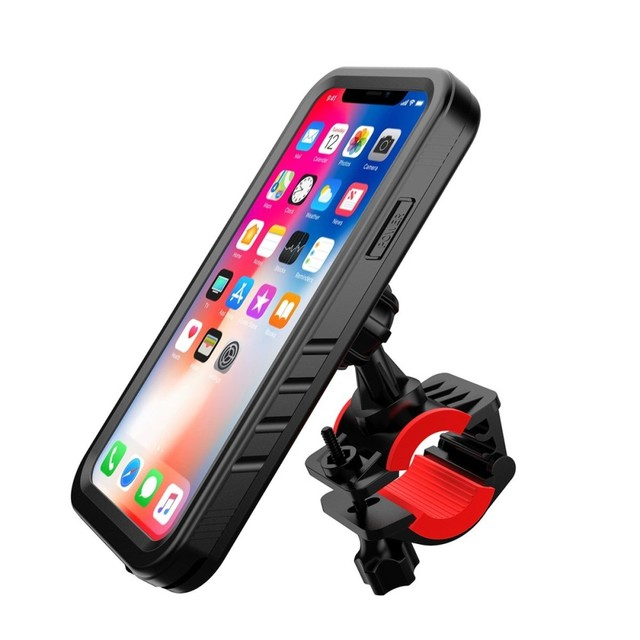 online retailer 8a7b3 991b4 US $14.29 35% OFF|Bike Phone Holder Motorcycle Handlebar Cradle,pop Bicycle  phone Mount for iPhone x Waterproof Case GPS support 360 Rotate stand-in ...