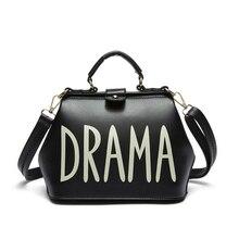 Designer sacs à main de haute qualité haut-poignée sacs DRAME 2016 petit PU en cuir sac femelle épaule médecin sac Or Argent noir