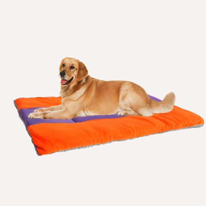 Creative Stitching Pet Cushion Warm Dog Mattress Pad for Pet House Kennels Bed PP Cotton Sleeping Mat Pet Supplies 2