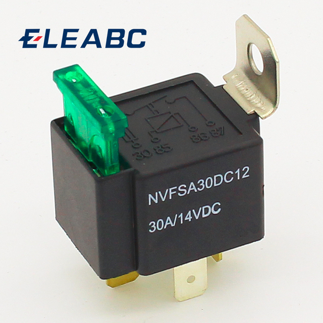 FORWARD relays top grade quality 4 pin 30A auto relay with fuse, coil voltage 12VDC relais