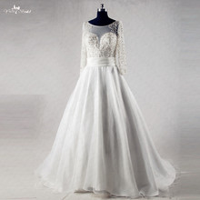 yiaibridal RSW981 Organza Skirt Long Sleeve Wedding Dress