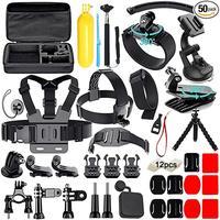 Accessories kit for Gopro Hero 7 6 5 Black Hero 4 3 Session Set Mount for SOOCOO / Akaso / xiaomi 4K for eken h9r 13N EVA VS77
