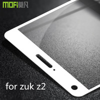 zuk z2 glass MOFi original full cover white edge for lenovo zuk z2 screen protector tempered glass 9H 2.5D front guard 5.0 inch