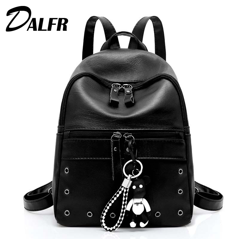 DALFR Hollow Out Women Backpacks For Teenage Casual  Girls Female PU Leather School bag Travel Fashion Adolescent Backpack