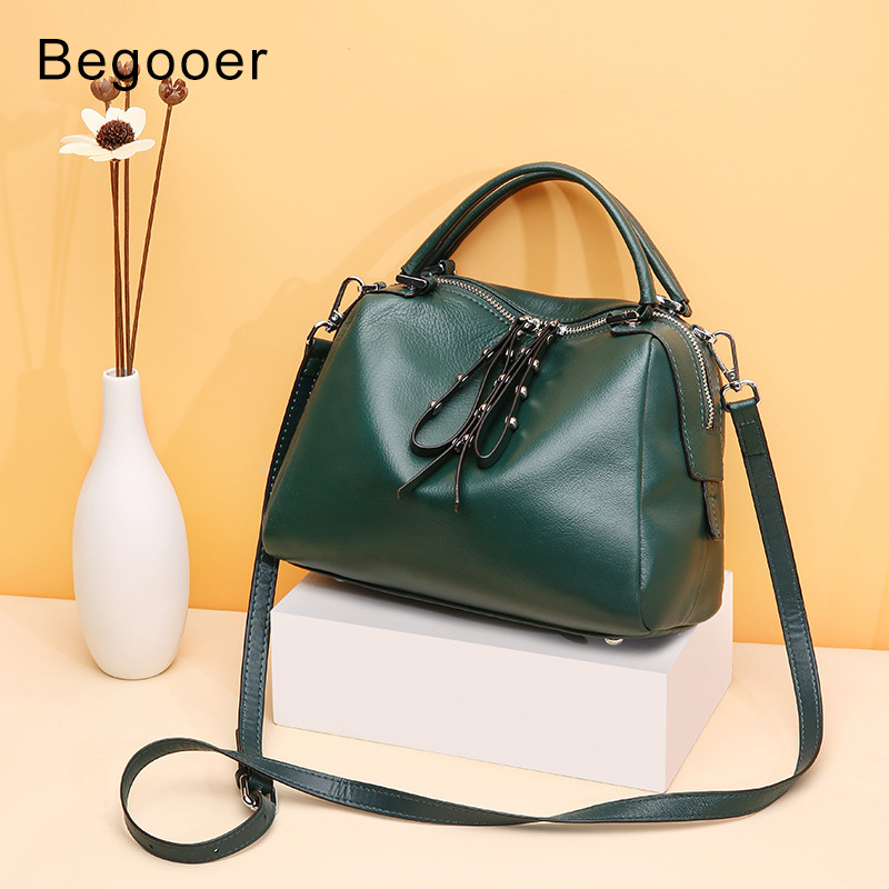 Begooer Luxury Handbags Women Bags Designer Genuine Leather Shoulder Bag Top-Handle Ladies Bags Female Messenger Crossbody Bag monfere 100% genuine leather bucket bag women 2018 casual top handle shoulder bags brand designer ladies crossbody messenger bag