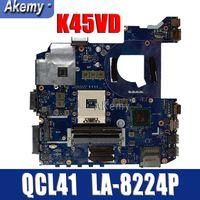 Amazoon original QCL41 LA 8224P laptop motherboard for ASUS Motherboard K45VD A45V K45V K45VM K45VJ K45VS A45VJ mainboard tested