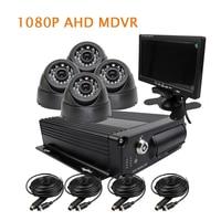 Gratis Verzending 4CH H.264 1080 P AHD 256 GB SD Auto DVR MDVR Video Recorder 7