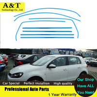 Stainless Steel Full Window Trim Strips For Volkswagen Golf 6 2010 2011 2012 2013 High Quality