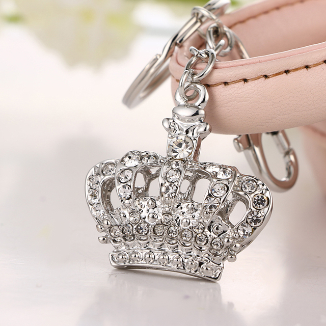 2017 NoEnName_Null la última corona linda de moda de diamantes de imitación de cristal colgante encanto bolso llavero