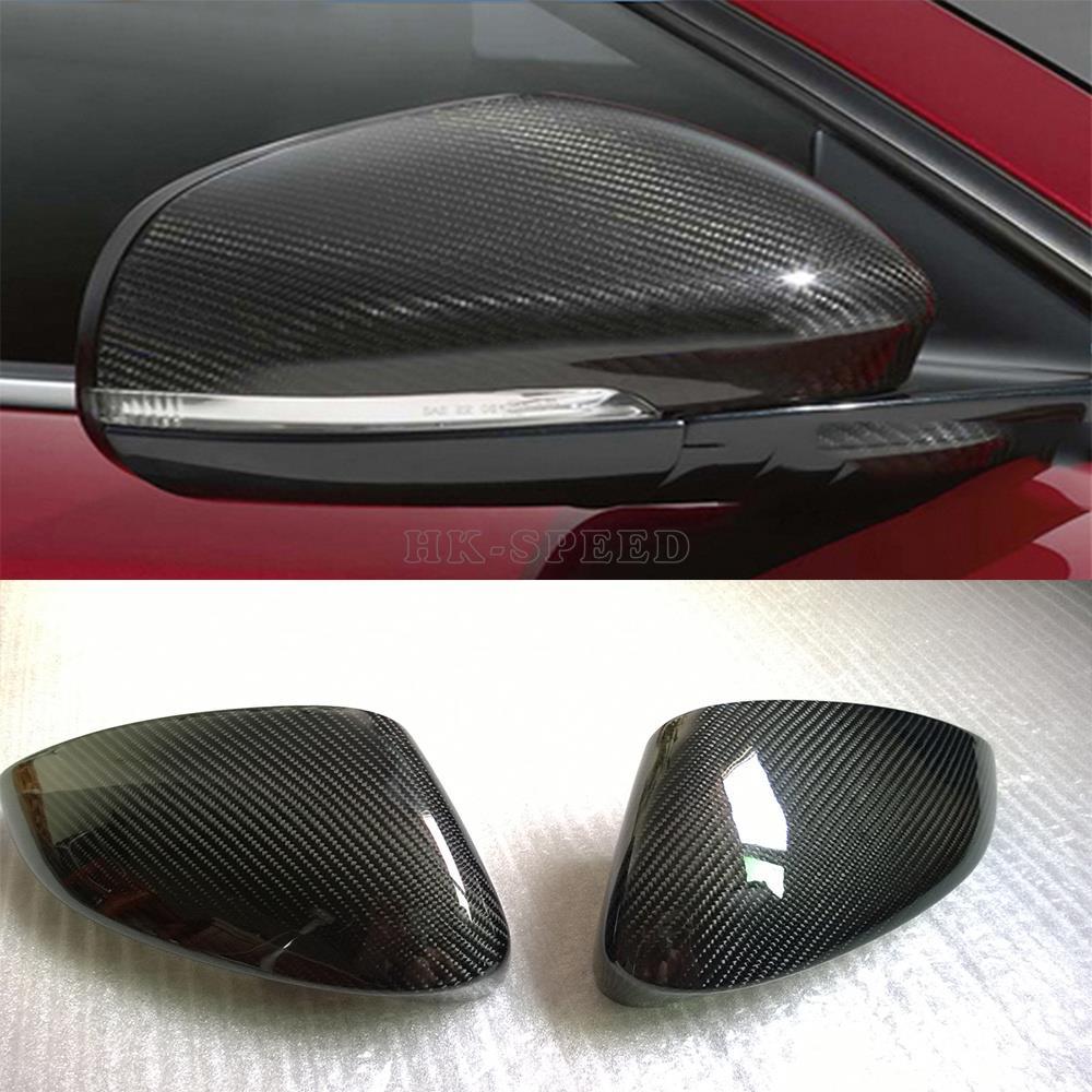 carbon fiber car side mirror covers fender for Jaguar F-TYPE Coupe 2-Door 2013-2016