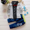 Fashion New Spring&Autumn Baby Boy Clothing Set gentleman T-shirt + jeans set Kids ClothesChildren Boy Gentleman suit set 1-4T