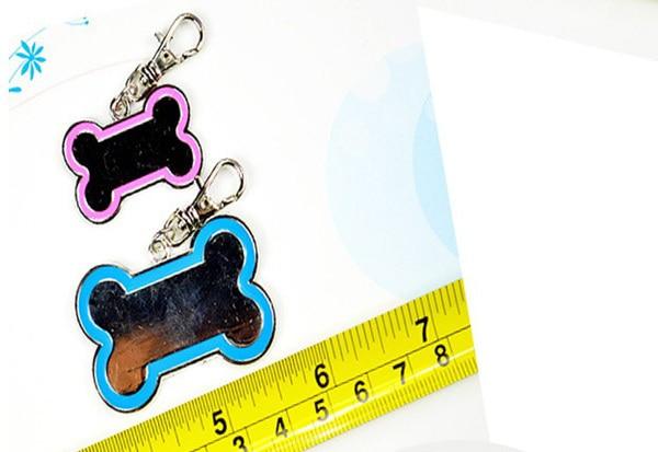100 шт./партия, жетоны для питомцев в форме кости глинозема, 32 мм* 20 мм из цинкового сплава, бирка для собак, пользовательские ярлыки в форме кота