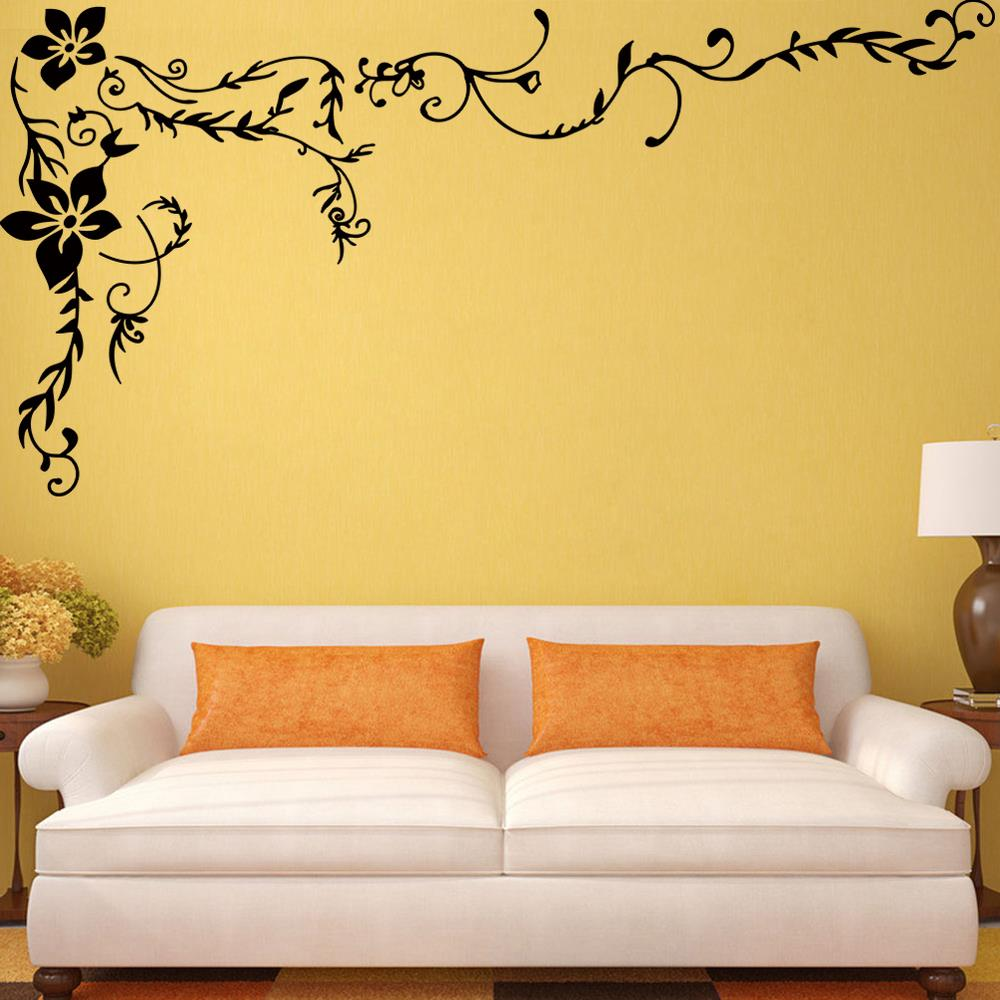 Wonderful Flower Vine Wall Stickers For Home TV Background Living ...