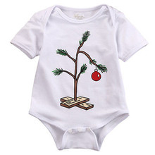 NEW ARRIVAL XMAS FRUIT Baby Girl Boy Christmas Tree Short-Sleeve Romper Playsuit Jumpsuit Outfits