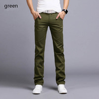 New 2018 Fashion Men Casual Pants Male Slim Straight Business Stretch Skinny Solid Track Sweatpants Trousers