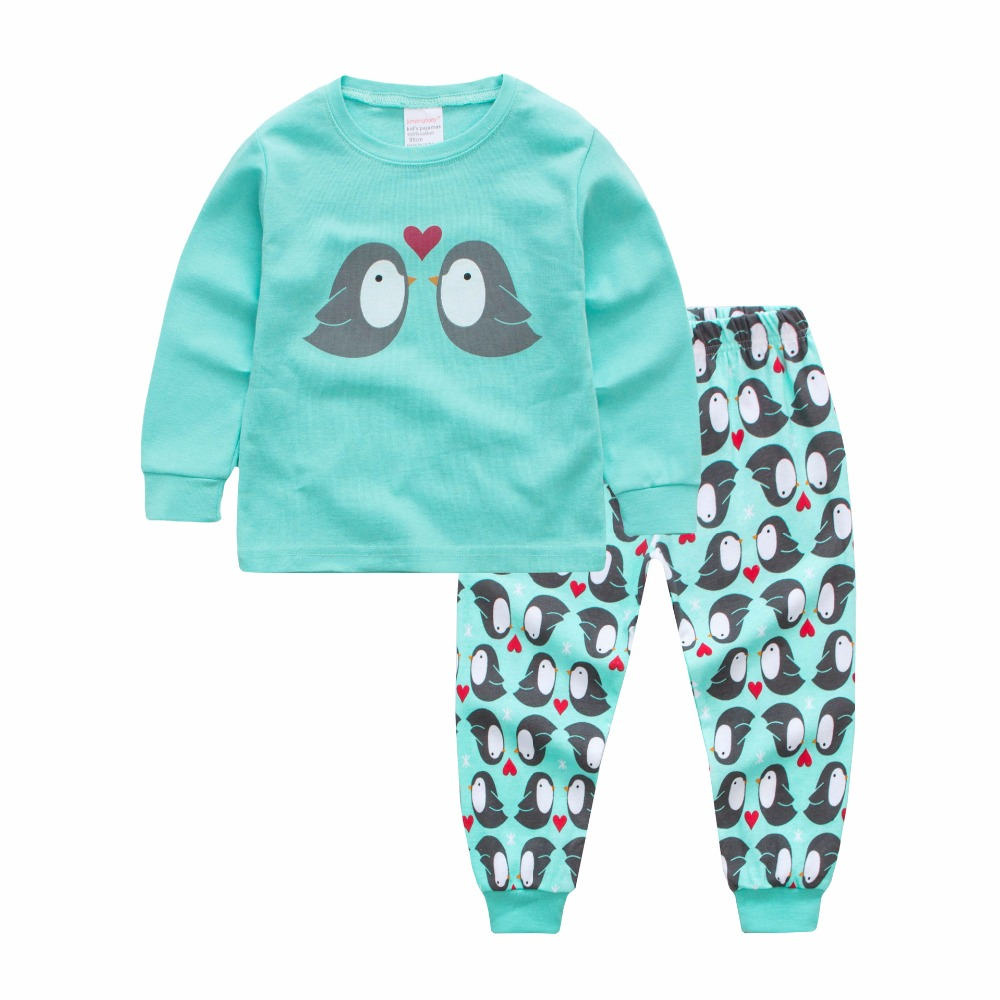 Children Girls Clothes Set Children girls Leisure Wear Baby Girl Sleepwear Long Sleeve Toddle Clothing Cute Cartoon Pajamas suit