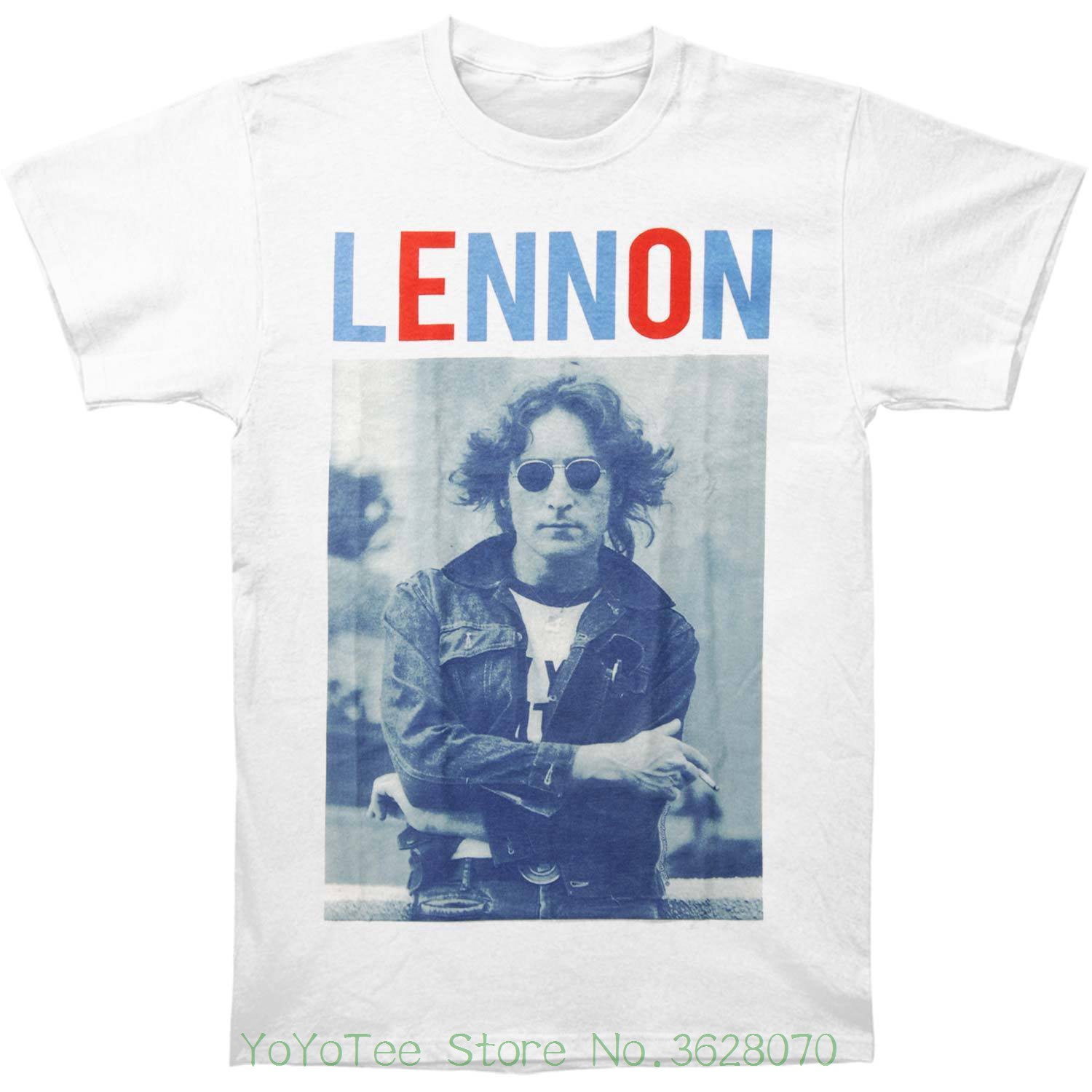 Summer Short Sleeves Cotton T-shirt John Lennon Men&#039 ; S John Lennon Red White &amp ; Lennon T-shirt Medium White ...