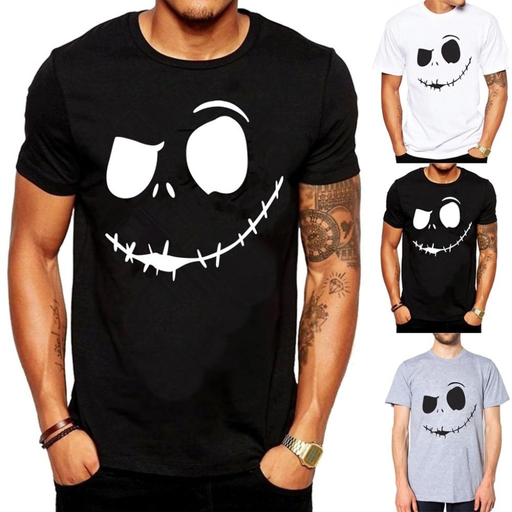 2019 Fashion Summer Short Sleeve   T  -  shirt   Evil Smile Face Printed Top   T     Shirt   RoundCollar Comfortable Men TShirt camisetas hombre
