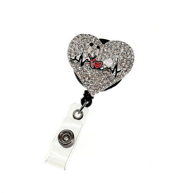 Porte-Badge rétractable pour stéthoscope en cœur porte-Badge médical pour infirmière