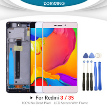 AAA LCD For Xiaomi Redmi 3 3S Display Touch Screen Digitizer Assembly Replacement for Xiaomi Redmi 3 S 3S LCD Display With Frame