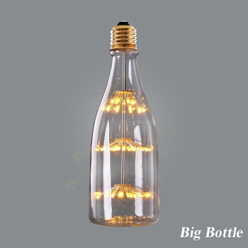 Firework Starry,ST64 led lamp Creative Bulbs,3W,Edison LED light Bulb,Led retro filament Super warm 2200K,E26 E27 Base
