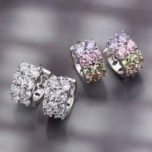 Белые корейские серьги золотые кольца для женщин бижутерия женские