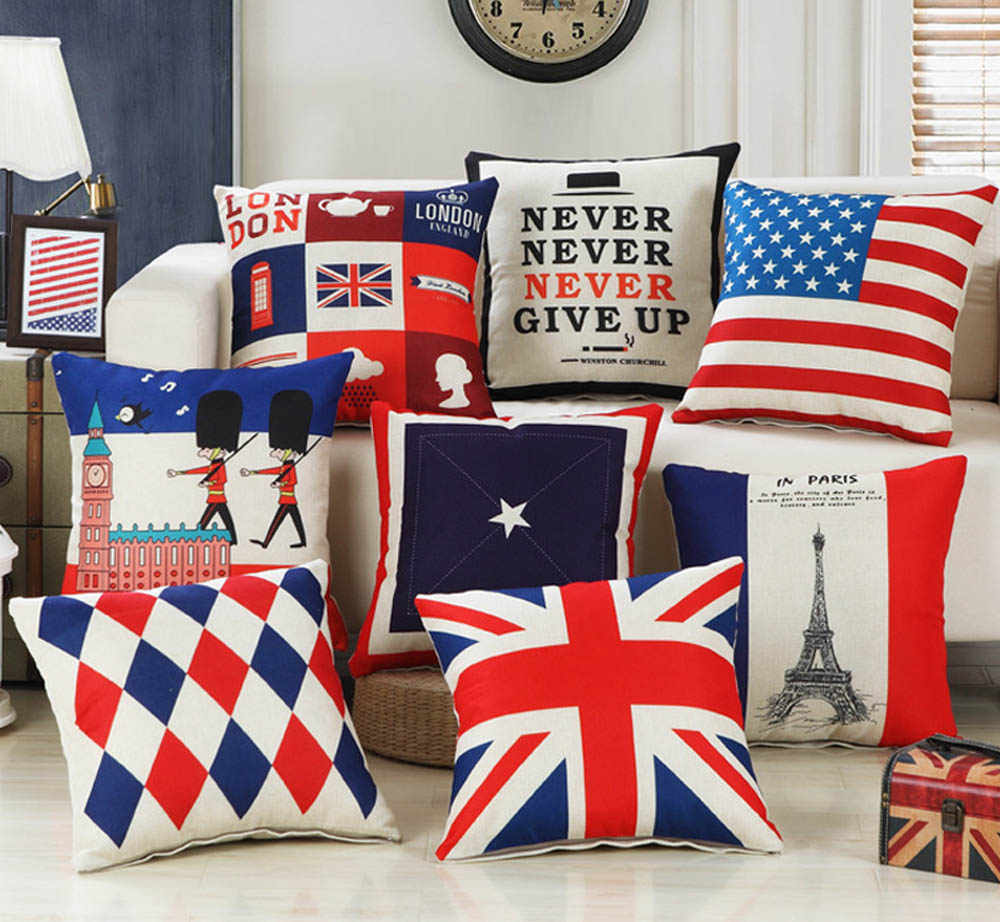 Pillow Case London Style Throw Pillow Covers Beefeater Cushion Cover British Flag Soldiers Pillow Covers Home Decor For Sofa Car
