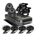 Бесплатная Доставка 4 Канальный Автомобильный Заднего вида Автомобиля CCTV Камеры Автомобиля мобильный DVR Система H.264 Аудио Видео Рекордер Автомобиля DVR I/O G-sensor