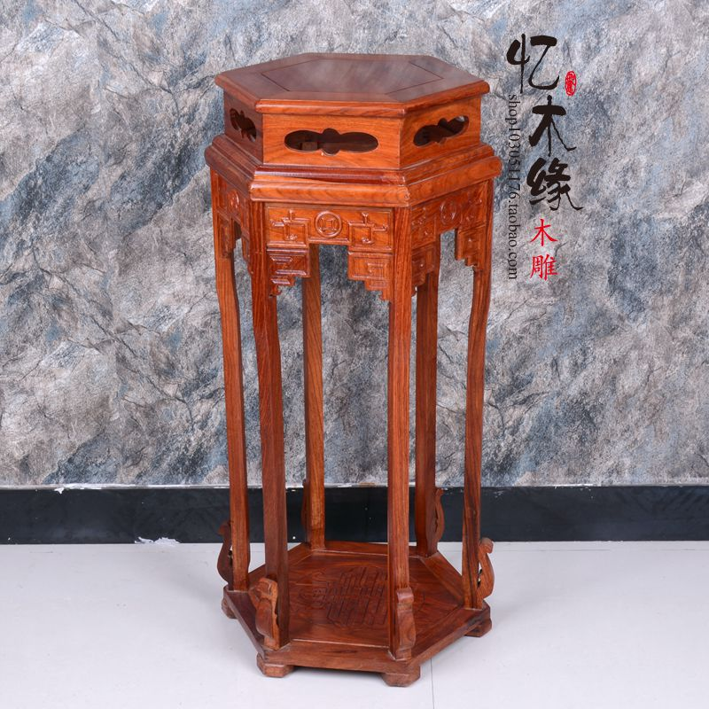 Shipping rosewood rosewood wood flower a few Chinese living, bonsai flower stand corner a few antique frame happy few блузка