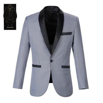 New high-end men's suit two-piece suit (jacket + pants) fashion slim mosaic men's suit men's business dress support custom