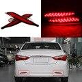 Супер Led Автомобилей Автомобиль Хвост Заднего Бампера Отражатель Света Автомобиля СВЕТОДИОДНЫЕ Фары Дневного Света Для Hyundai Sonata