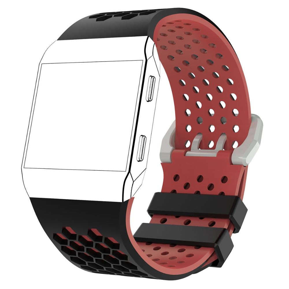 Light Ventilate Silicone Sports Watch Strap For Fitbit ionic Band Smart Watch Adjustable Replacement Bracelet Strap Watchband in Smart Accessories from Consumer Electronics