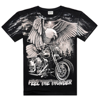 Black Heavy Metal 3D T Shirt Skeleton Jesus Bob Marley Che Guevara Kung Fu Summer Fashion