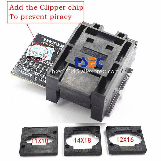 RT809H nand flash programista isp BGA153 BGA169 emmc adapter z 3 sztuk BGA prostokąt ograniczający RT BGA169 01 adapter bga rt809h gniazdo