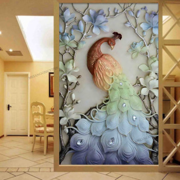 Meian,Diamond Painting,Special Shaped,Diamond Embroidery,Animal,Peacock,5D,Cross Stitch,3D,Diamond Mosaic,Decoration,Christmas