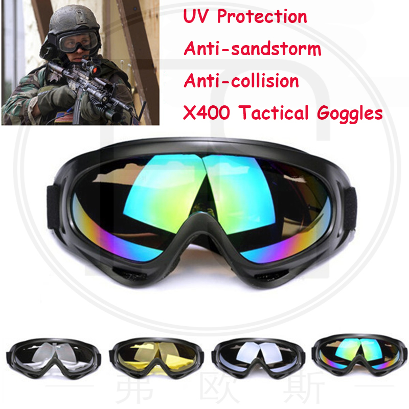 X400 Military Tactcial Goggles UV400 Protection Sunglasses Outdoor Sport Airsoft Windproof Glasses Cycling Motorcycle Eyewear