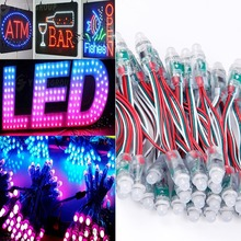 DHL frre shipping 1000pcs/lot WS2801 led module, waterproof ip68 DC5V RGB pixel string